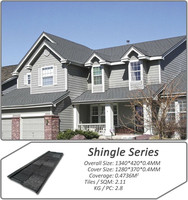 Roof Material CE Certificate shingle mixed color stone coated steel roof tile Aluminium Zinc Sheet Tile Roof