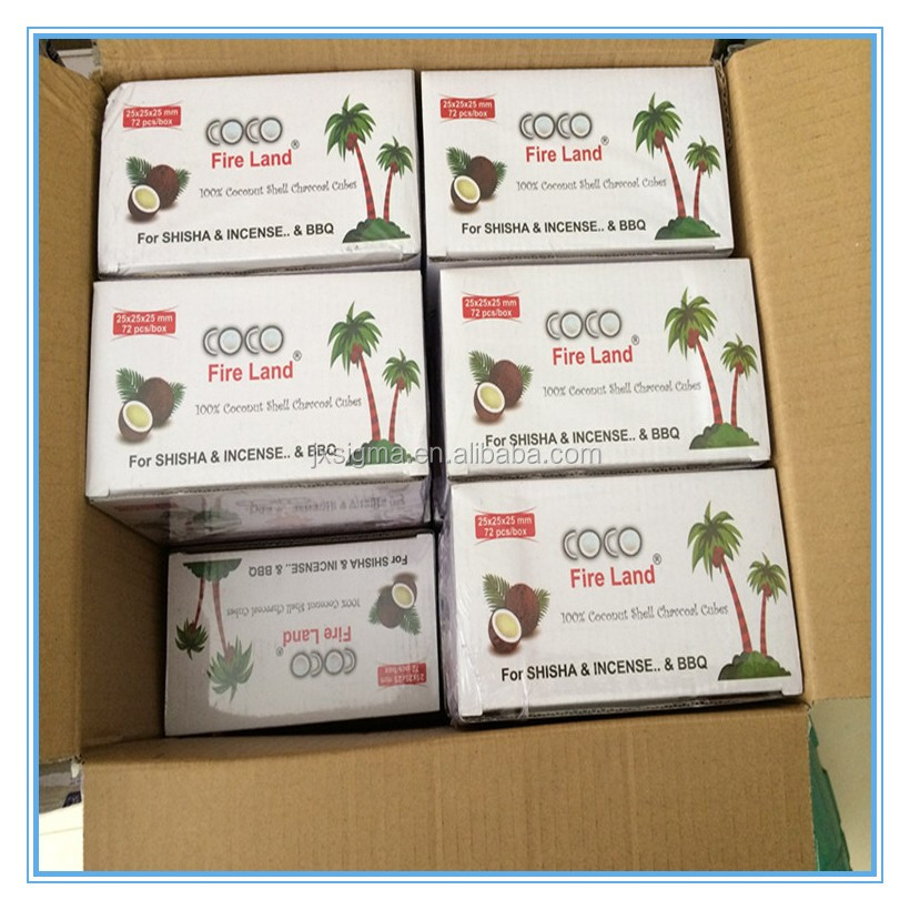 best quality eagle coconut Charcoal in Cubic for Shisha