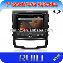 2 Din 7 inch Car DVD Player with GPS PIP and 3D Menu for SsanngYongKorando
