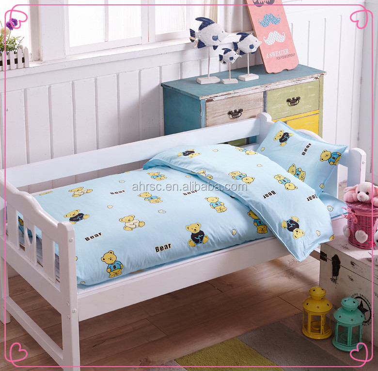 European style cotton print soft boy Bed linen set/Baby crib bedding sets
