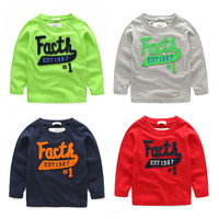 New Products Children Long Sleeve Autumn T Shirt With Wholesale Price