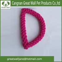 The letter D Weaving Cotton rope pet toys for dog