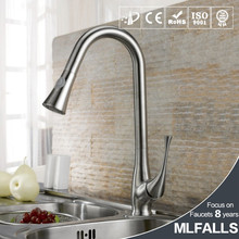 New Pull-out Spray 360 degrees Swivel Spout Kitchen Faucet Brushed Nickel Mixer