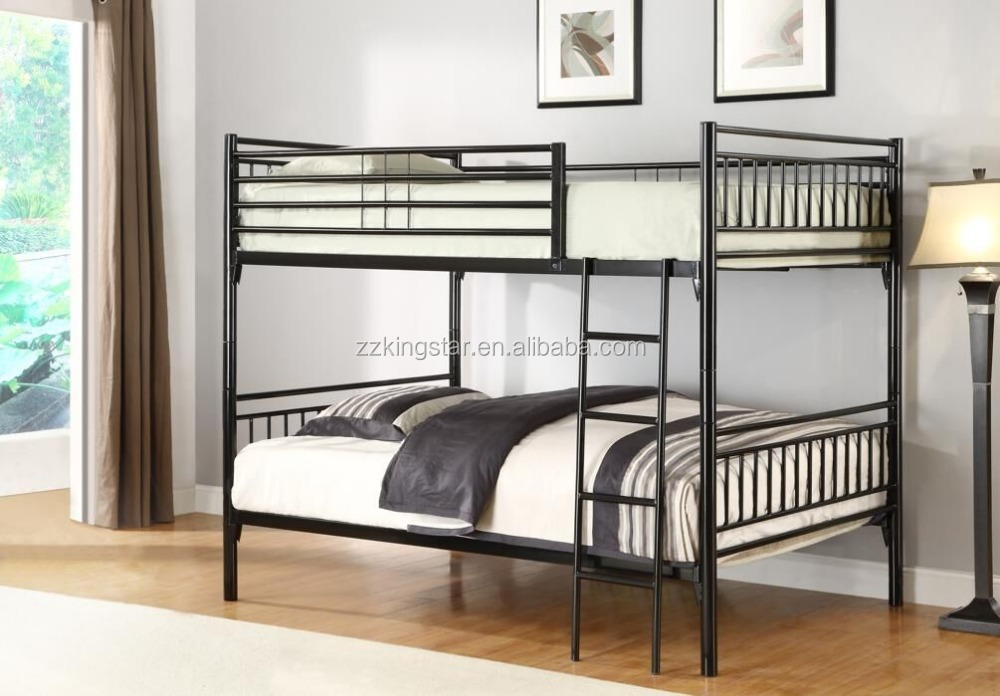 Military used twin size two layer metal bed frame