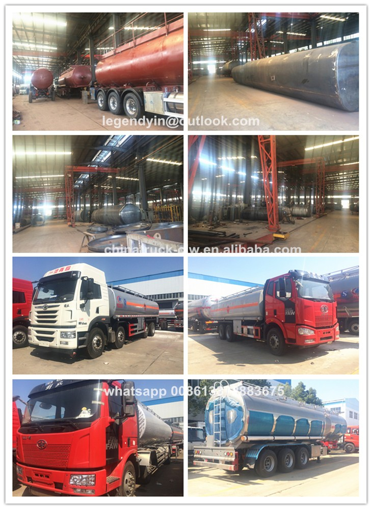 High quality 3 axle 20000 liter 20 cbm 25000 liters acid chemical tank transport semi trailer with low price