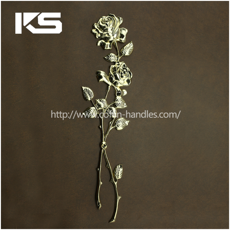 gold online shop china funeral accessories factory plastic coffin flower