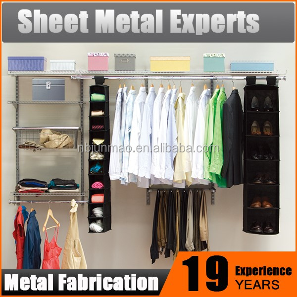 Wall Mount Wardrobe Closet Clothes Storage DIY Metal Armoires