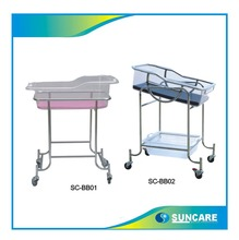 hospital bed with 4 wheels hospital infant baby bed SC-BB02
