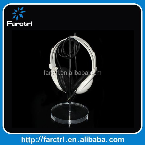 FC402 Clear Acrylic Transparent Headphone Stand Without Alarm