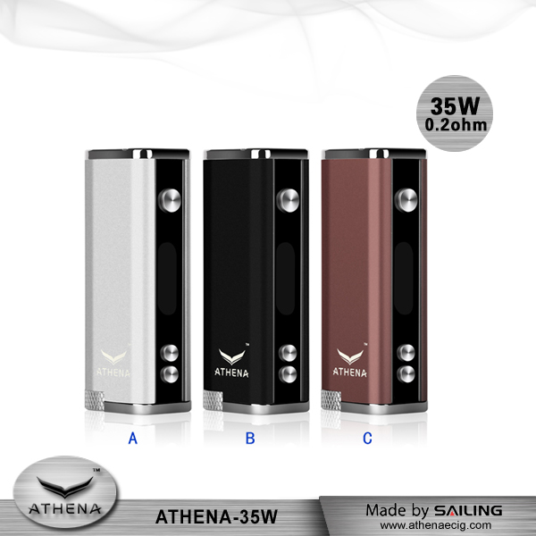 Chinese manufacturers 35W vapor box mod, mechanical mod ecig For UK