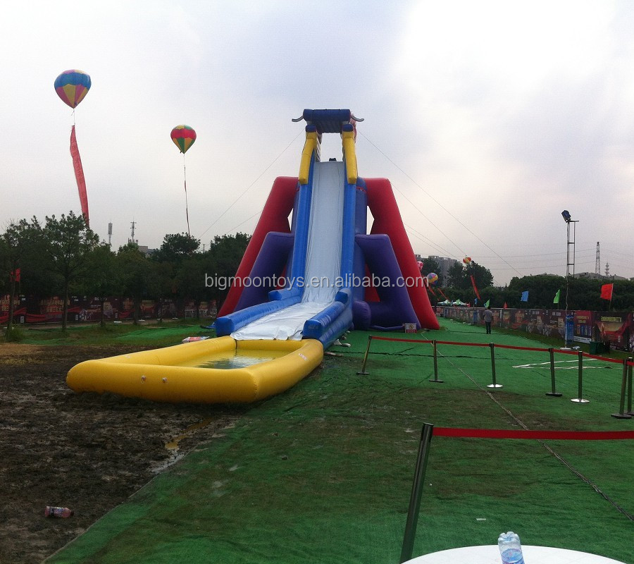 2017 hot commercial huge inflatable water slide
