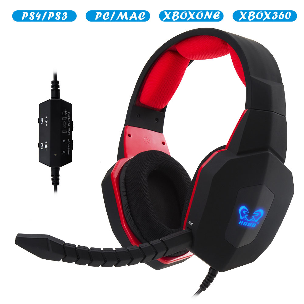 Hot sell LED logo light gaming headset fashion stereo gaming headphone for PS4 PS3 Xbox PC MAC