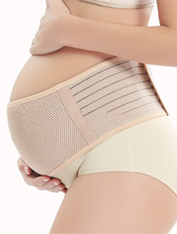 Online shopping customized adjustable sandwich mesh soft maternity support belly band for mother-to-be