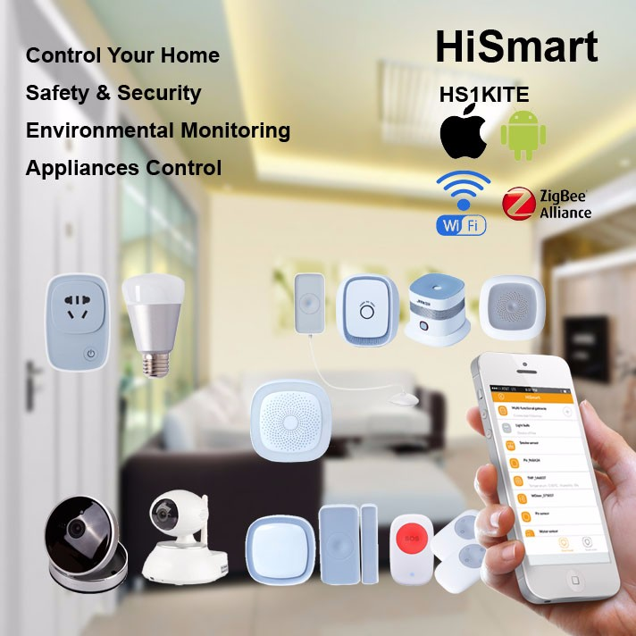 2016 Smart Home Automation Products with Wi-fi Zigbee Gateway Emergency Panic Button