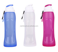 food-grade silicone foldable travelling bicycle water bottle