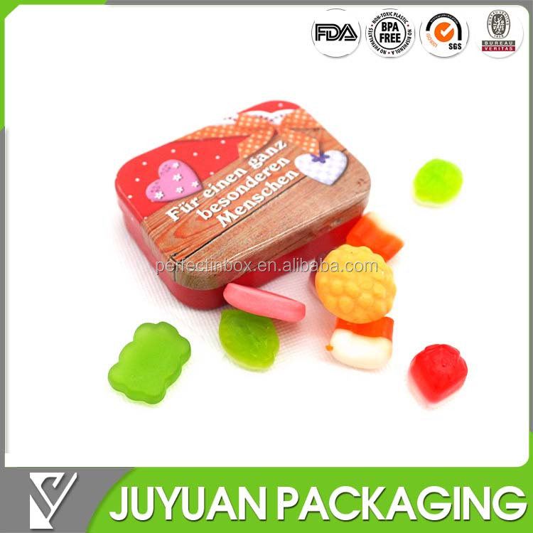 mini mint candy tin small tin container with colorful printing