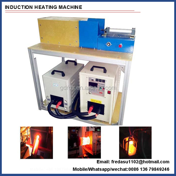 Portable induction billet hot forgine heater