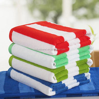 100% Cotton Yarn Dyed Woven Cabana Stripe Beach Towels
