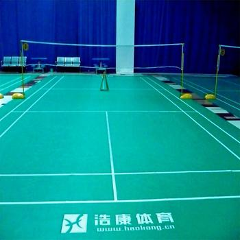 CE Certificated Top Quality Indoor PVC Sports Badminton Court Mat