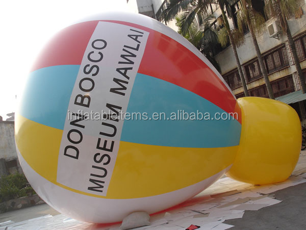 giant pvc inflatable hot air balloon model