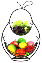 stainless steel 2 tier wire fruit basket