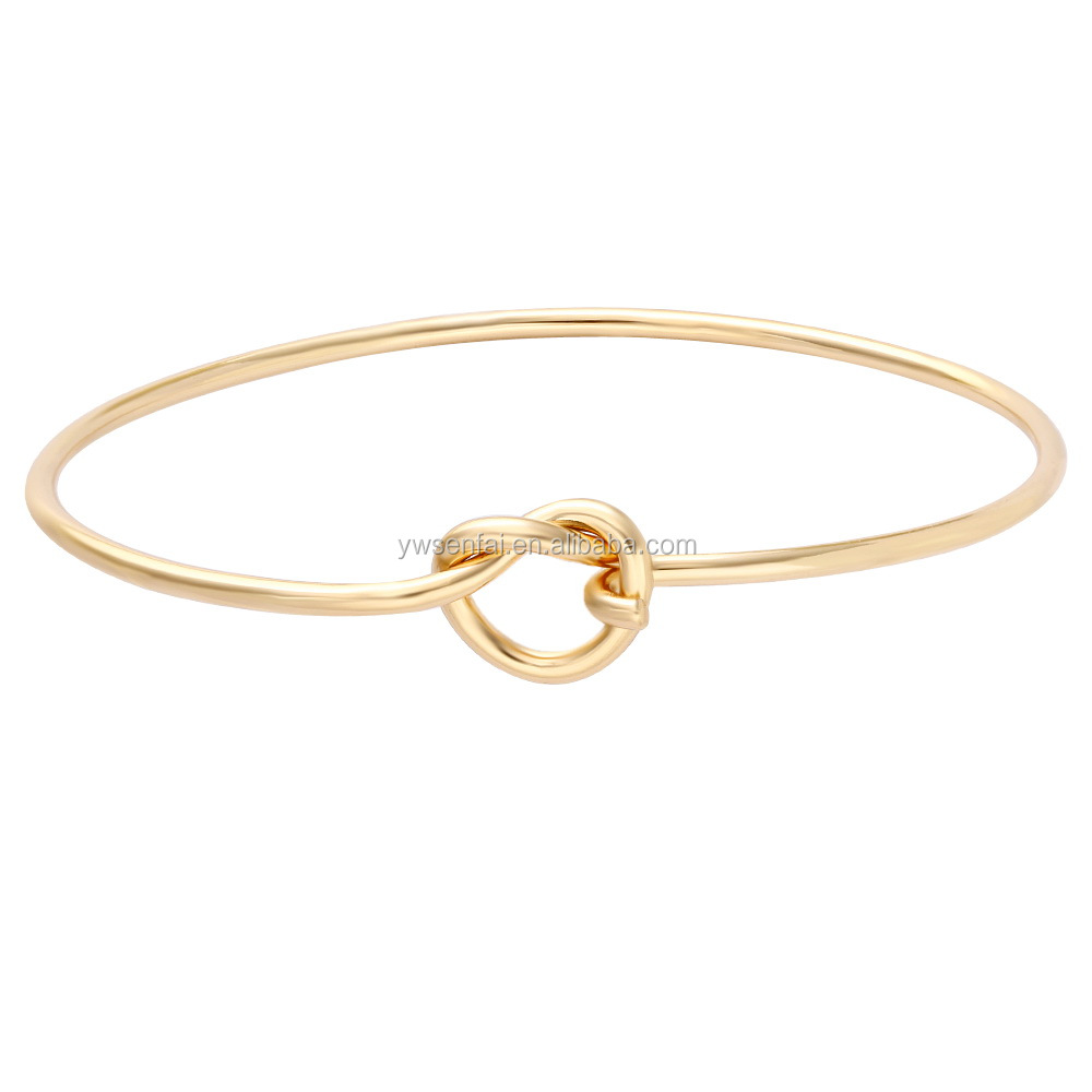 Hot Sale China Factory Manufacturers Custom Knot Design Womens Gold Bracelets