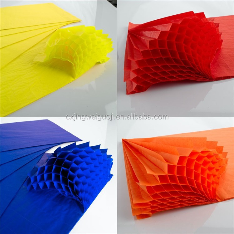 Easter egg honeycomb paper decorations