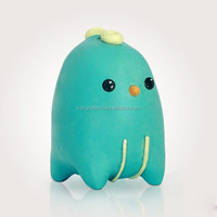 Collectable Little Critter Toy Design in Resin - Funny Character adorable sculpture cute figure teal baby penguin bird
