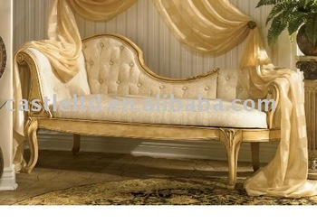 Luxury carved chaise lounge buy chair leisure chair for Carved wooden chaise