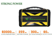 AC 250W lithium ion battery solar generator portable battery pack