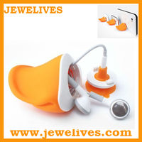 Novelty silicone desktop cell phones holder