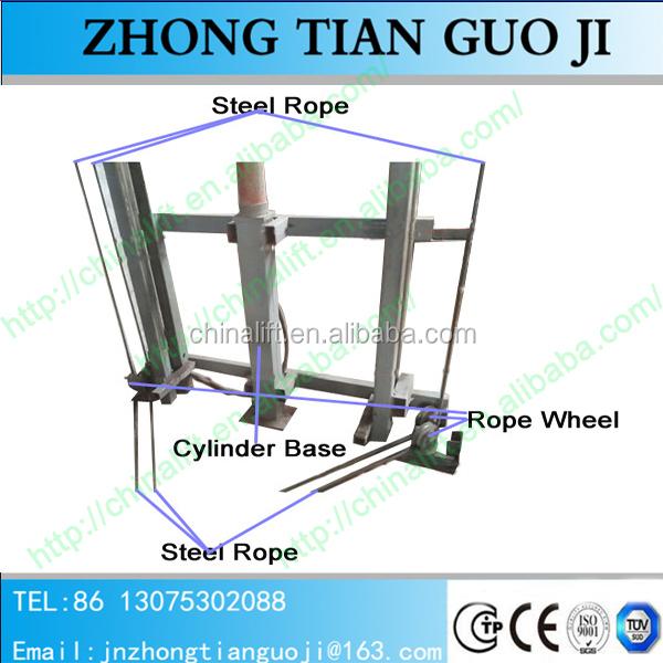 Elevator Installation Manual : Zhongtian heavy duty hydraulic warehouse cargo lift guide