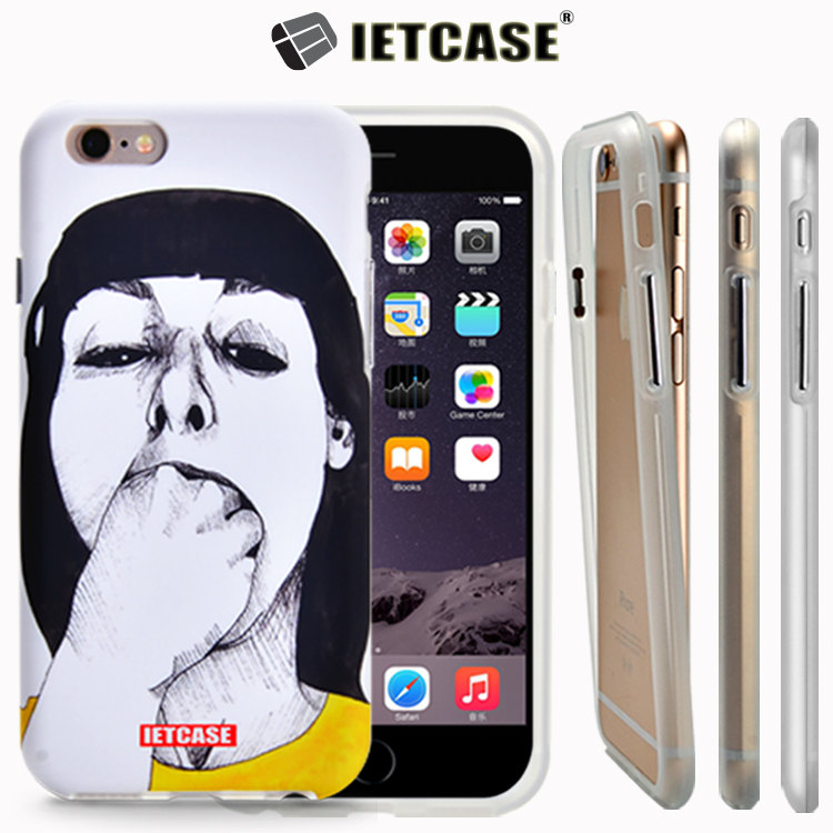 Custom cell phone case free sample case for iphone 6, hard PC cover soft TPU skin mobile phone case for Apple iPhone Phone