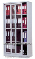 Glass sliding door office book/file display cupboard cabinet steel furniture,modern bookcase