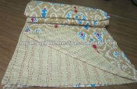 New design Latest pattern Handmade Kantha Quilt Ikat print Kantha Quilt