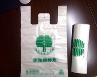 Plastic white t-shirt bag