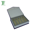 custom magnetic lid cardboard cosmetic set packaging box with foam insert