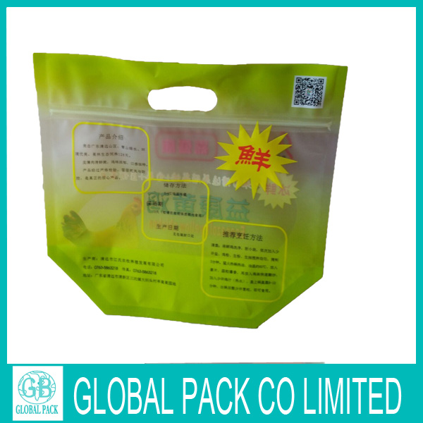 Hot sell customized plastic zipper bags for chicken packaging
