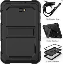 Multi-layer Rugged Case for Samsung Galaxy Tab A 10.1 Case SM-T580 SM-T585 with Carrying Shoulder Strap
