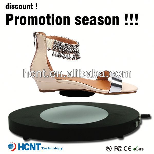 new invention ! magnetic levitating led display stand for shoe woman,soda shoes