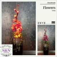 L11 New Style decorative handmade flowers table lamp light