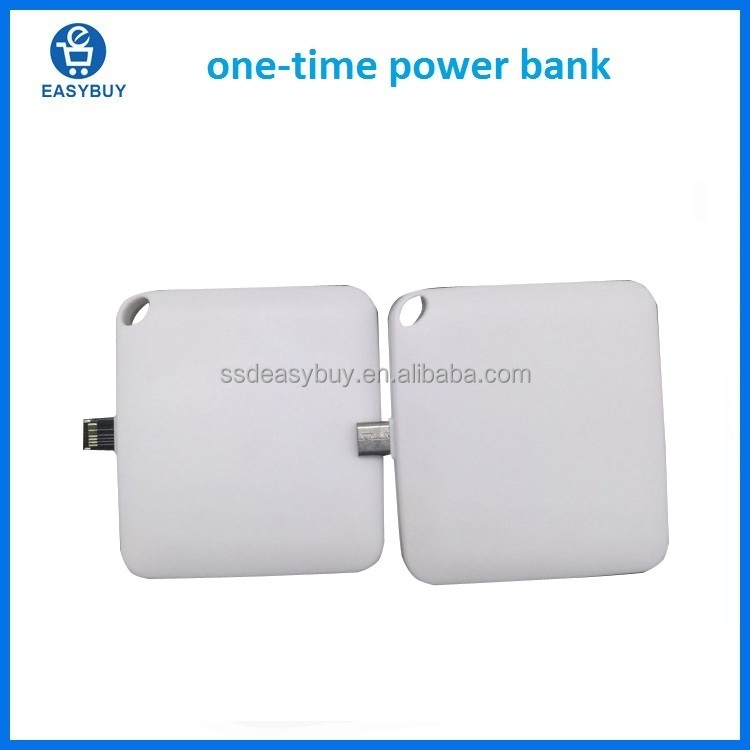 Wholesale Custom Logo brandcro Battery One Time Use Mobile Charger 600mAh 1000mAh Disposable