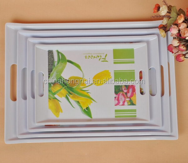 2015 new design BPA free melamine serving tray