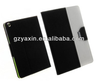 Dual Leather Cover For iPad mini Kickstand Case / graceful folio cover for ipad mini tablet case / mixing case for ipad mini 2/3