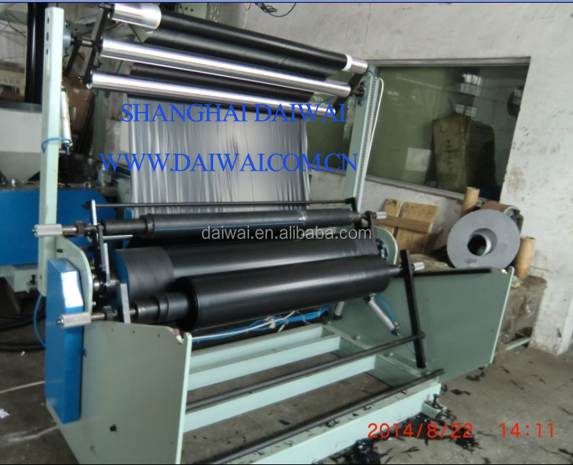 EXHAUST EXTRUDER PLASTIC FILM BLOWN MACHINES with Single Winder and Corona treatment