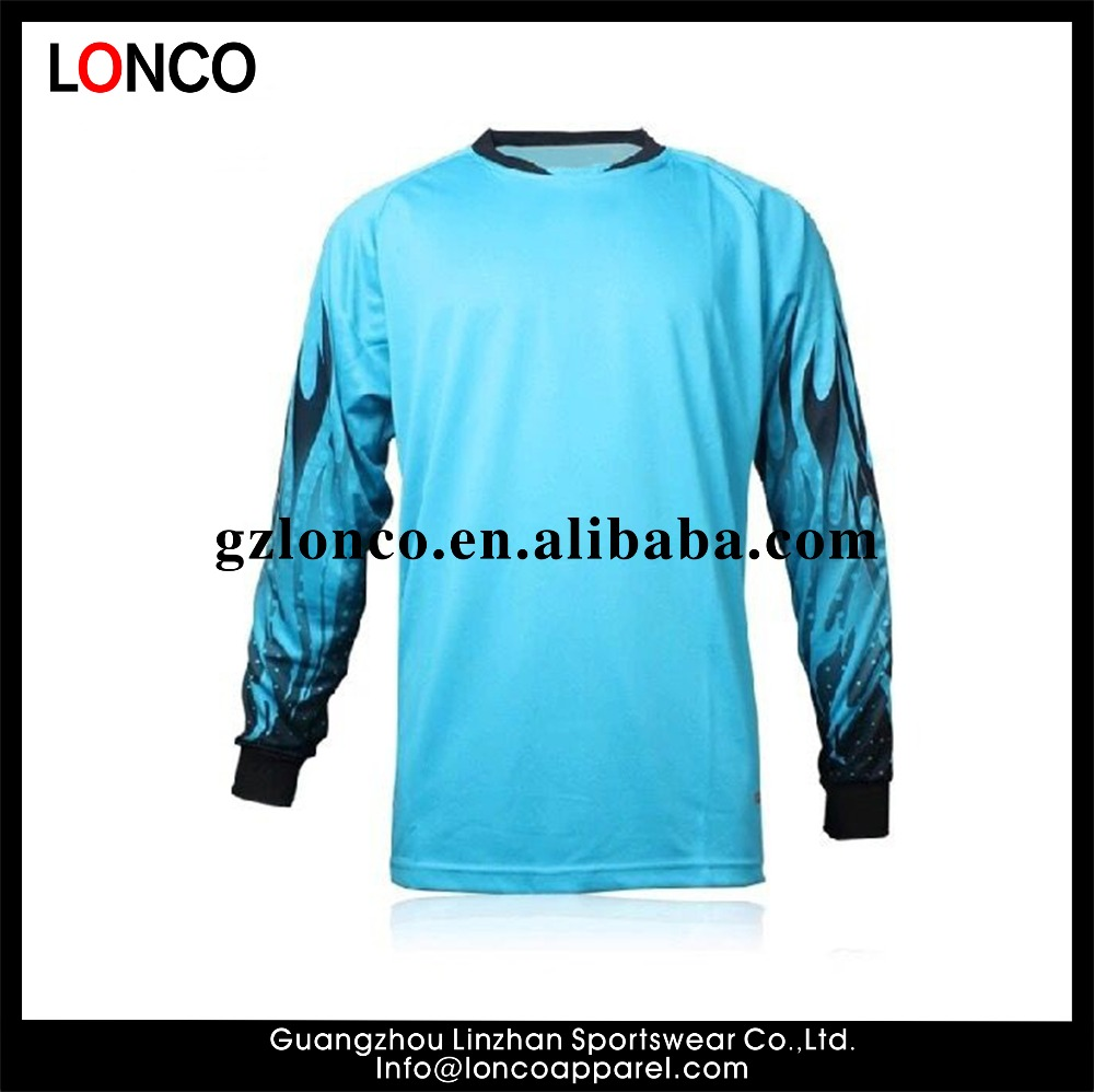 Mens Football Sublimation Goalkeeper Soccer Shirt Keeper Foam Padded Jersey suits Goalkeeper equipment