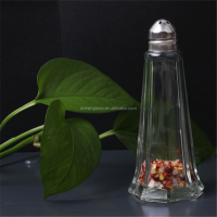 Tower shape glass spice jar sauce salt shaker kitchen cruet