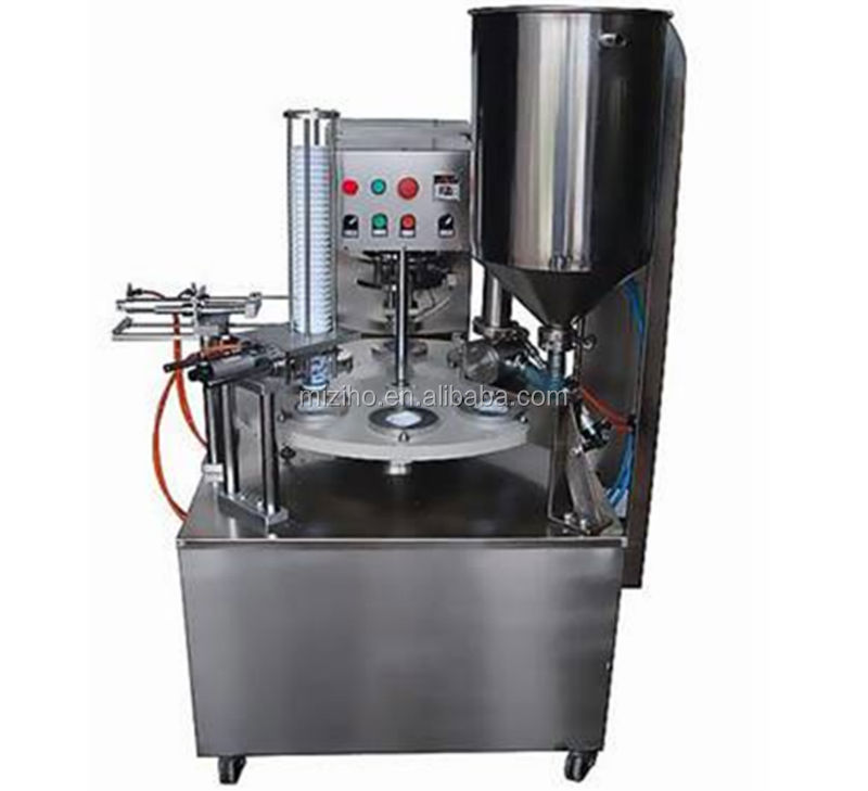 MZH-SL Semi-automatic Rotary Type Cup Filling And Sealing Machine