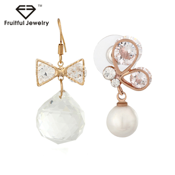 High quality jewelry rhinestone pearl earring jewelry stud earring.