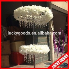 wedding or event white rose decoration flower arrangement stands wholesale